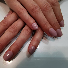 classic nude gel polish