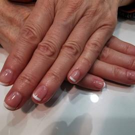 classic French gel polish