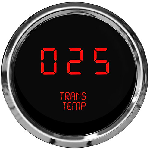 Transmission Temperature LED Digital Gauge in Chrome Bezel