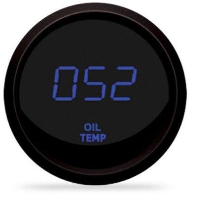 Oil Temperature LED Digital Gauge in Black Bezel