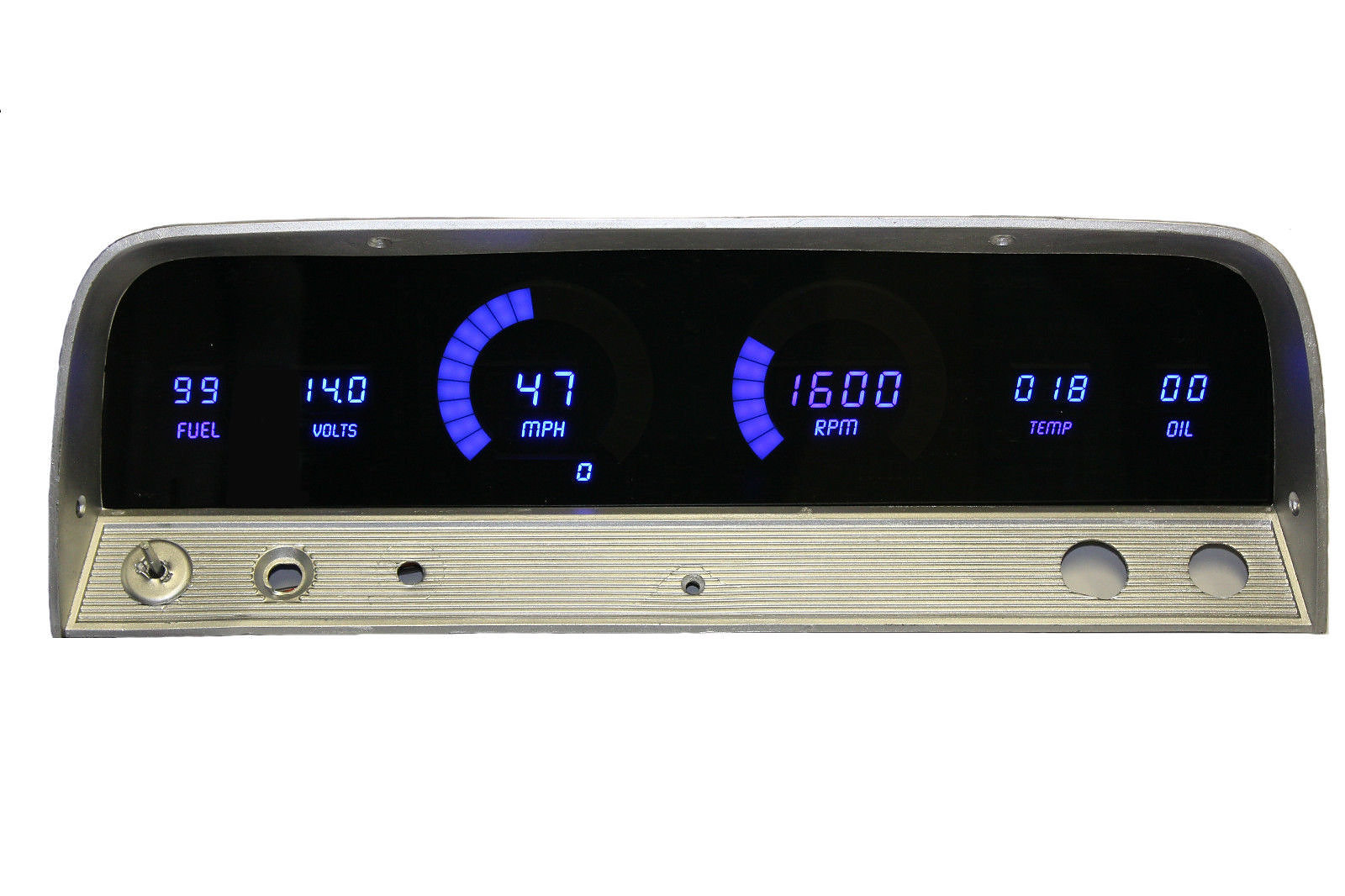 Direct Fit Digital Panels 1955 Ford F100 Pick Up Gauge Cluster Chevy Truck 64 66 Led Panel