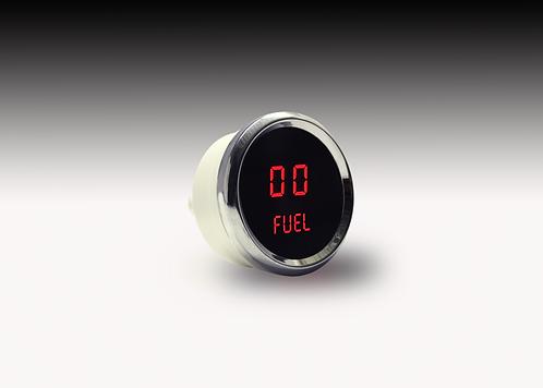 Fuel Level LED Digital Gauge in Chrome Bezel