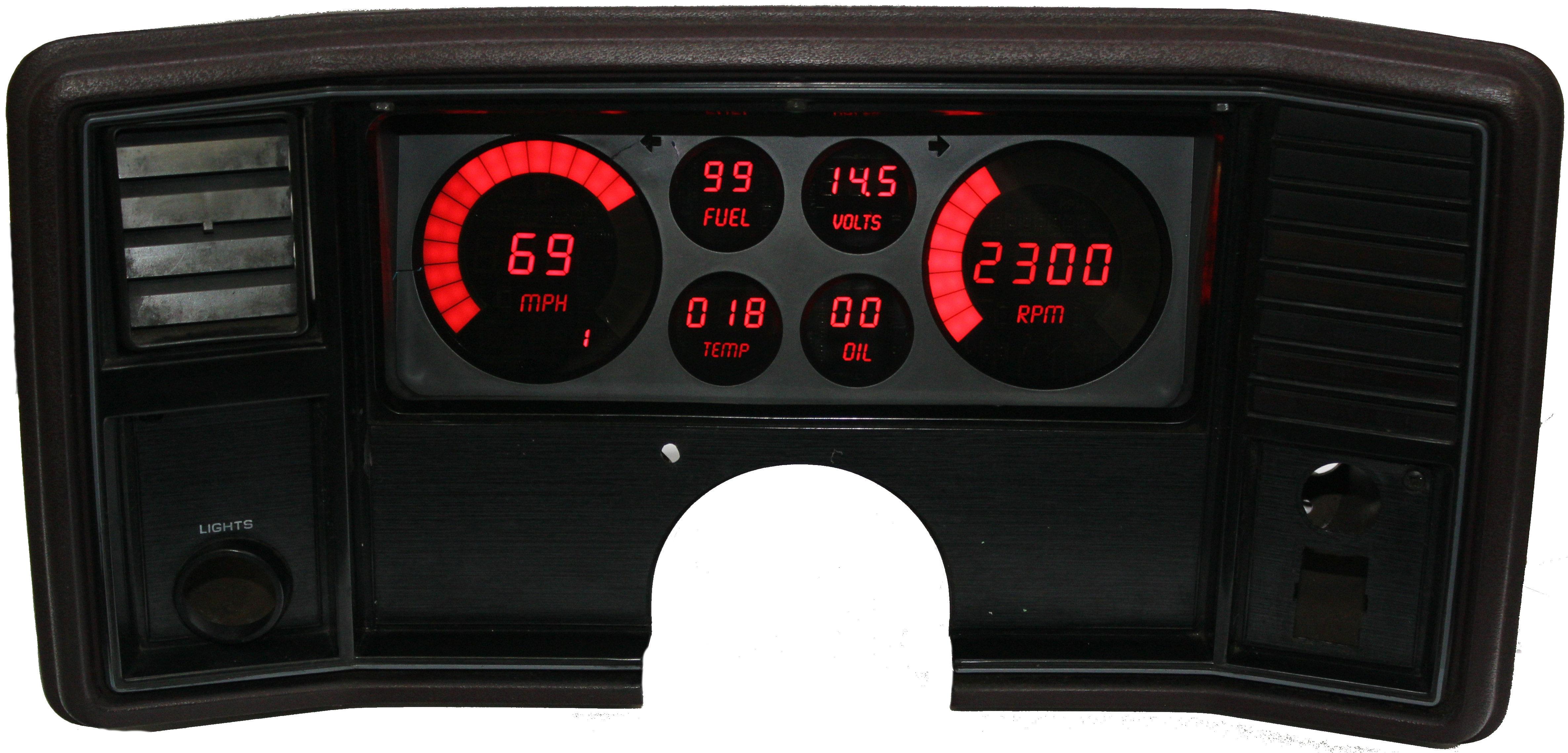 78-88 Monte Carlo/El Camino LED Digital Panel on