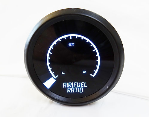 Air/Fuel Ratio LED Digital Bargraph Gauge Chrome Bezel