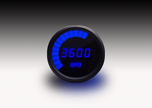 LED Digital Bargraph Memory Tachometer -  Black Bezel