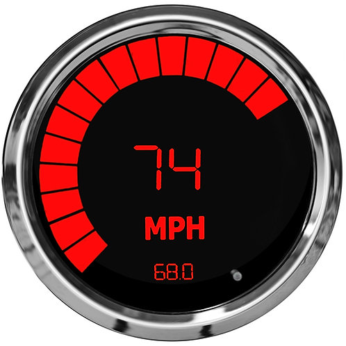 Speedometer/Tachometer Combo in Chrome Trim with Programmable Memory