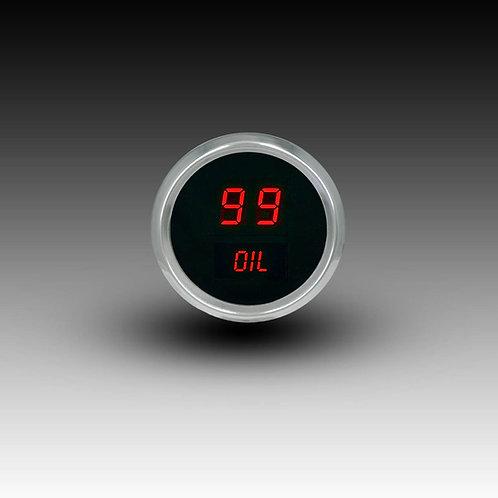 Oil Pressure Gauge in Chrome Bezel