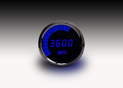 LED Digital Bargraph Memory Tachometer - Chrome Bezel