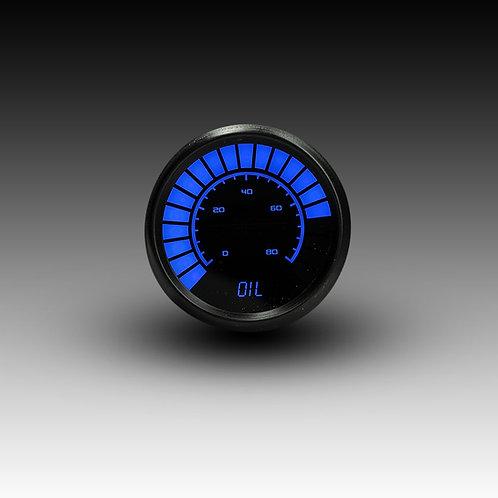 Oil Pressure Analog LED Bargraph in Black Bezel