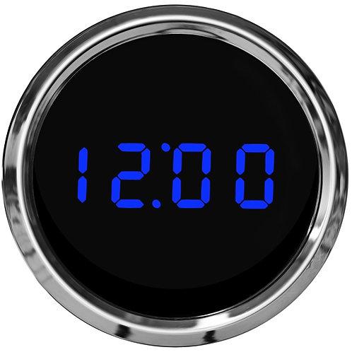 Clock LED Digital in Chrome Bezel
