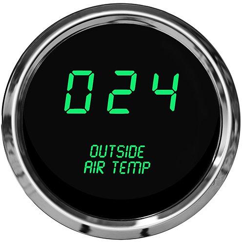 Outside Air Temperature LED Digital Gauge in Chrome Bezel