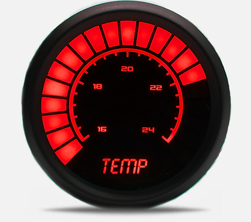 Water Temperature LED Analog Bargraph Gauge in Black Bezel