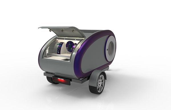 Cortes Campers Mini Caravan White & Grey