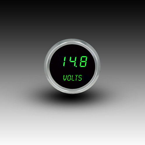 Voltmeter in Chrome Bezel