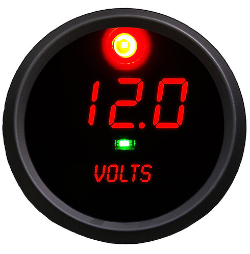 Co-Pilot Voltmeter in Black Bezel