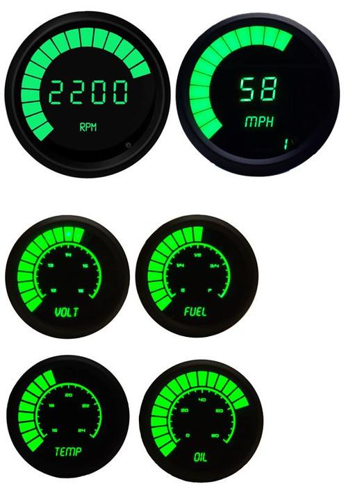 complete bargraph gauge set w black bezel