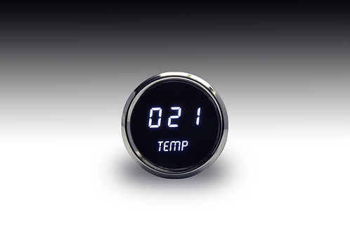 Water Temperature LED Digital Gauge in Chrome Bezel