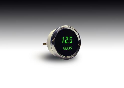 Voltmeter in Chrome Bezel