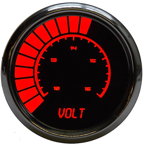 Voltmeter Analog LED Bargraph in Chrome Bezel