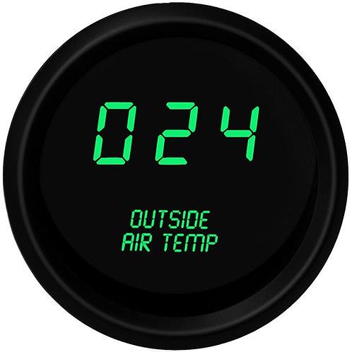 Outside Air Temperature LED Digital Gauge in Black Bezel