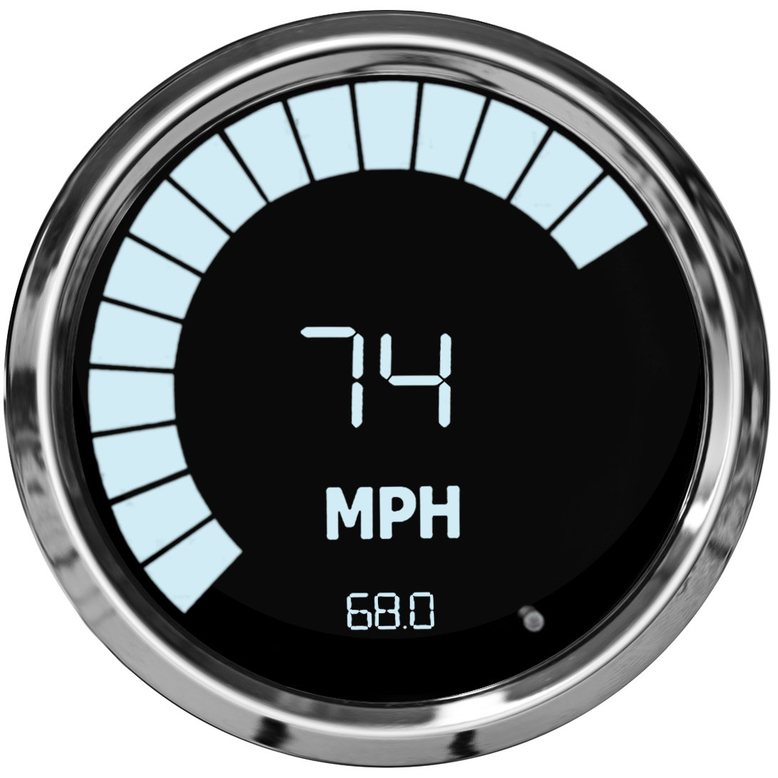 Speedometer  Tachometer Combo In Chrome Trim With