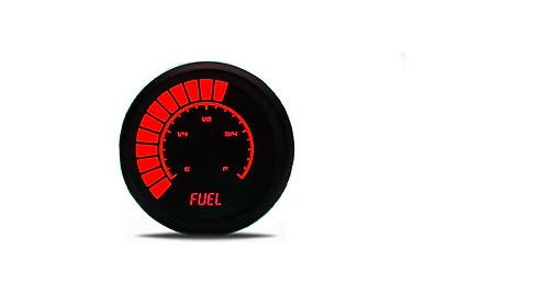 Fuel Level Analog LED Bargraph Gauge in Black Bezel