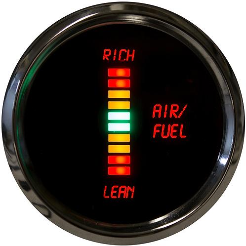 Air/Fuel Ratio LED Digital Gauge in Chrome Bezel