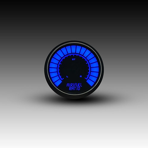 Air/Fuel Ratio LED Digital Bargraph Gauge Black Bezel