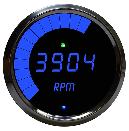 Tachometer Multi-Function LED Digital Programmable in Chrome Bezel
