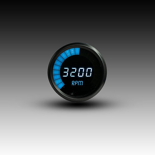 LED Digital Bargraph Memory Tachometer -  Black Bezel