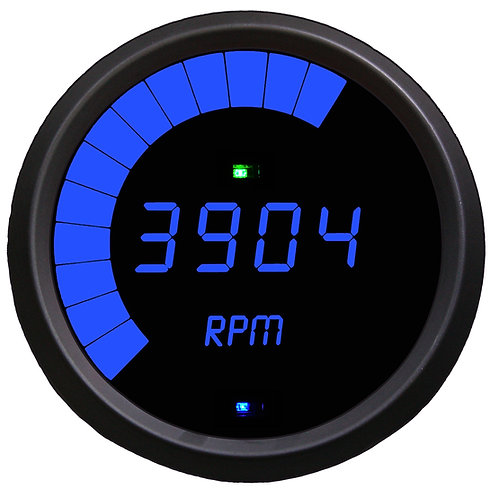 Tachometer Multi-Function LED Digital Programmable in Black Bezel