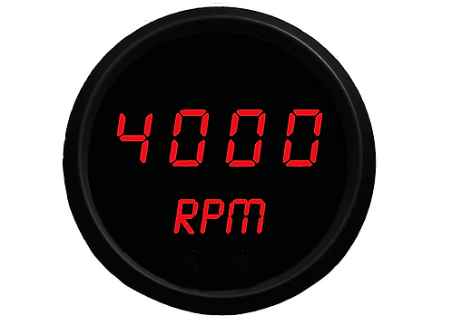 "Programmable Digital Mini-Tachometer 2 1/16"" in Black Trim"