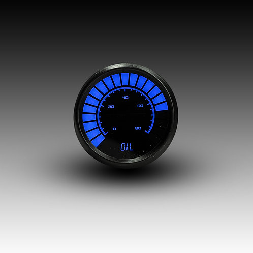 Oil Pressure Analog LED Bargraph in Black Bezel