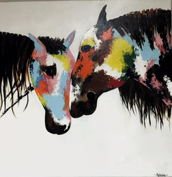 Abstract Horse painting beautiful colors