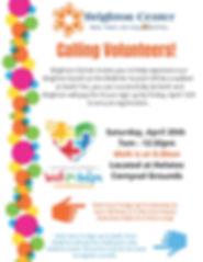 Walk for Autism Volunteer Sign Up Flier.