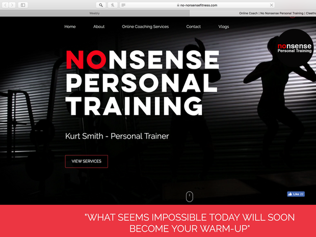 No nonsense fitness, web design Monkey dojo