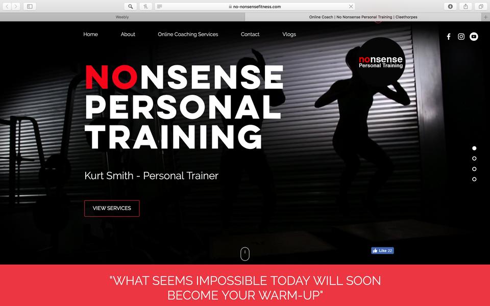 No nonsense fitness branding