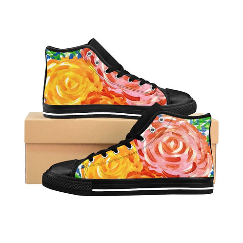 Pink Women's High-top Sneakers