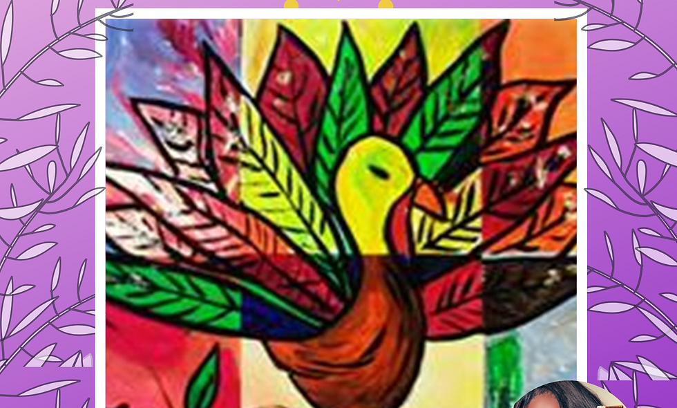 Gobble Wobble Collage Painting