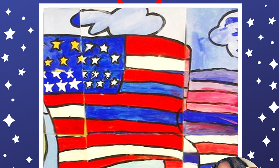 Stars & Stripes Collage Painting