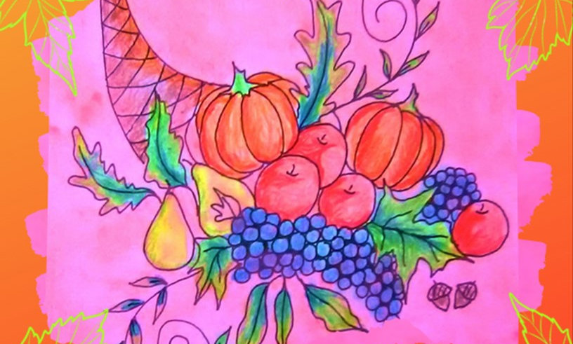 Abundant Harvest Adult Coloring Book for Seniors