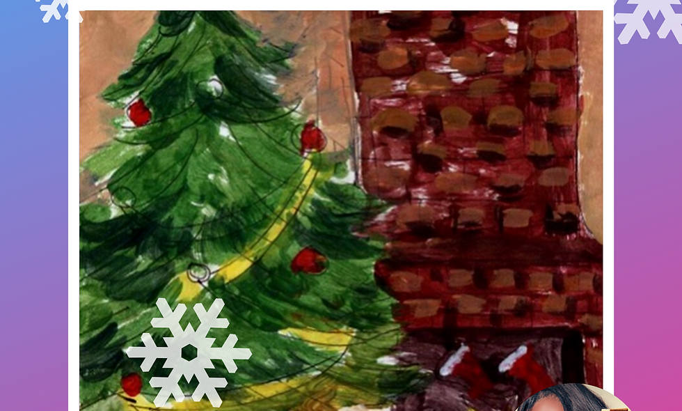 Christmas Time Collage Painting