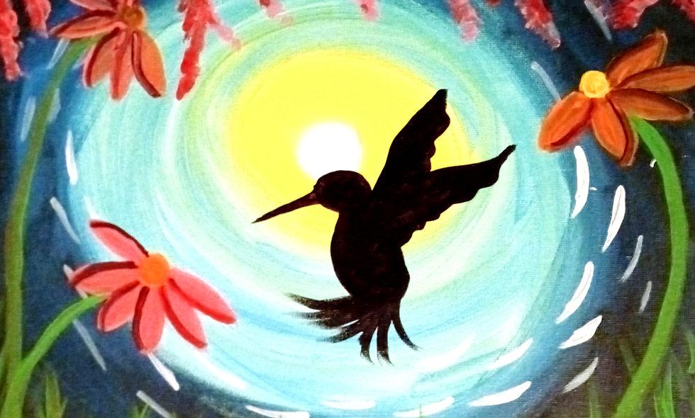 Midnight Summer Hummingbird