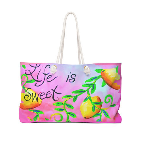 Life is Sweet Weekender Bag
