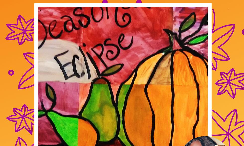 Pumpkin Pumpkin Collage Painting