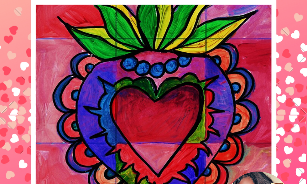 Love Charm Collage Painting