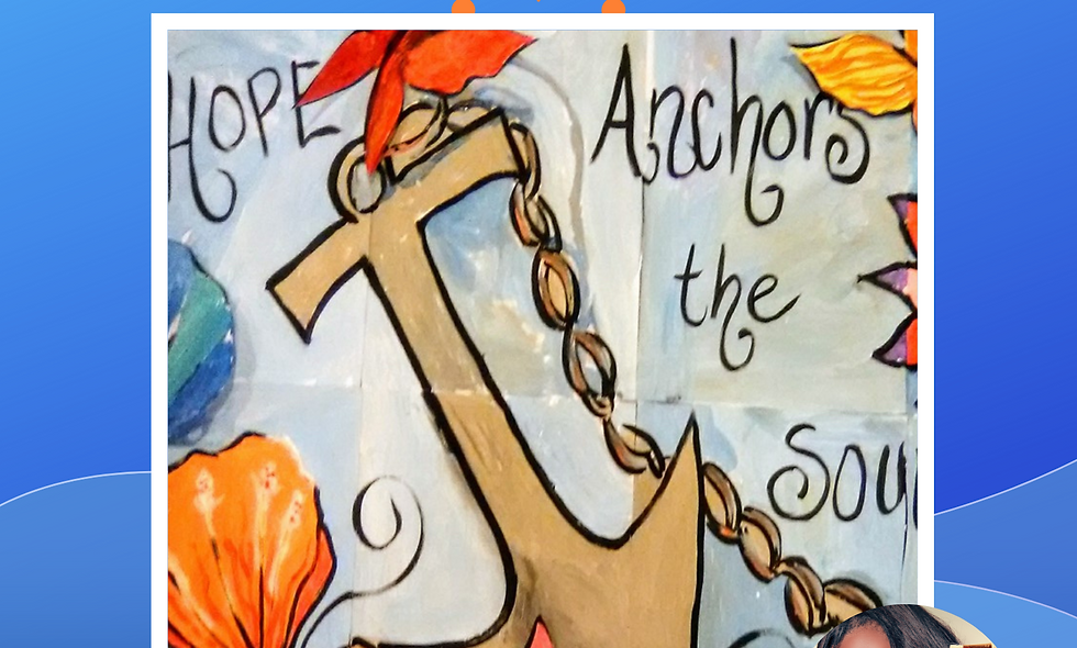 Hope Anchors Collage Painting
