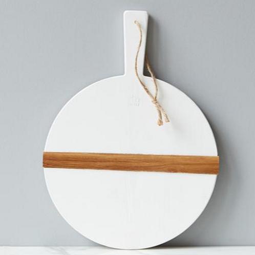 White Round Charcuterie Board