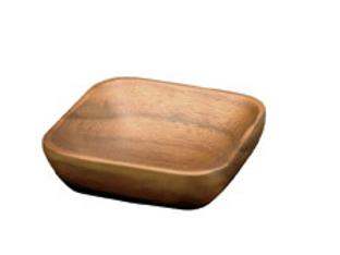 Acacia Wood Square Nut Dish
