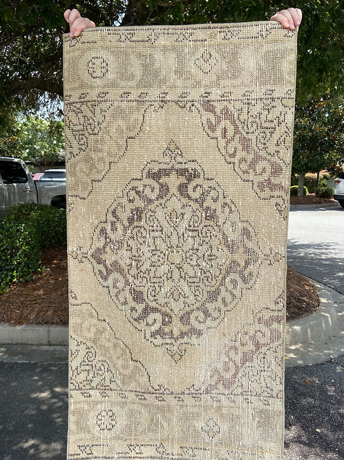 """The Smith's"" Twin 4.5' x 2.3' Vintage Rugs"